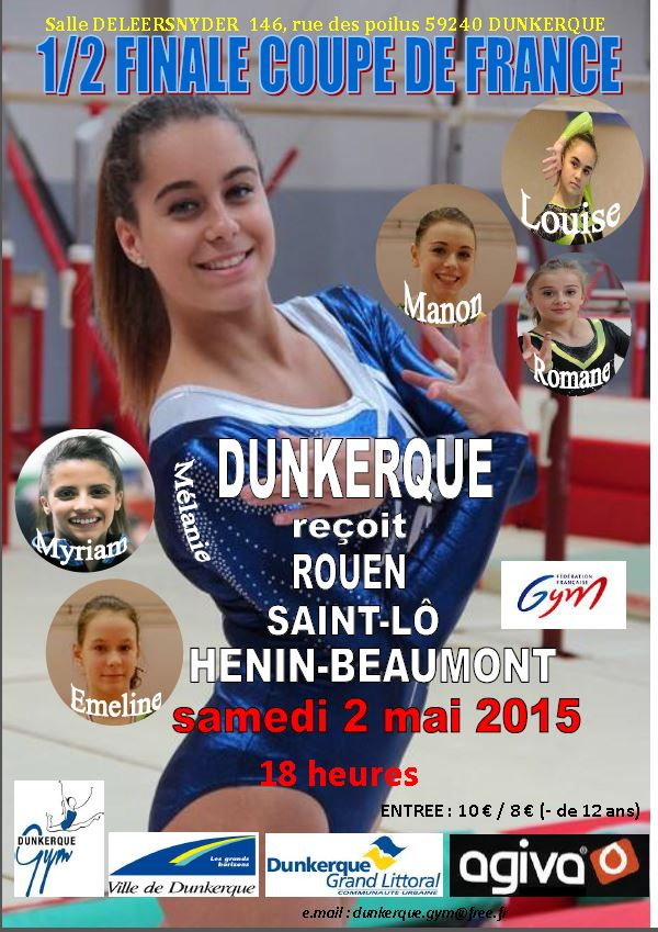 Dunkerque gym officiel r servation place pour la demi finale de la coupe de france dunkerque - Places finale coupe de france ...